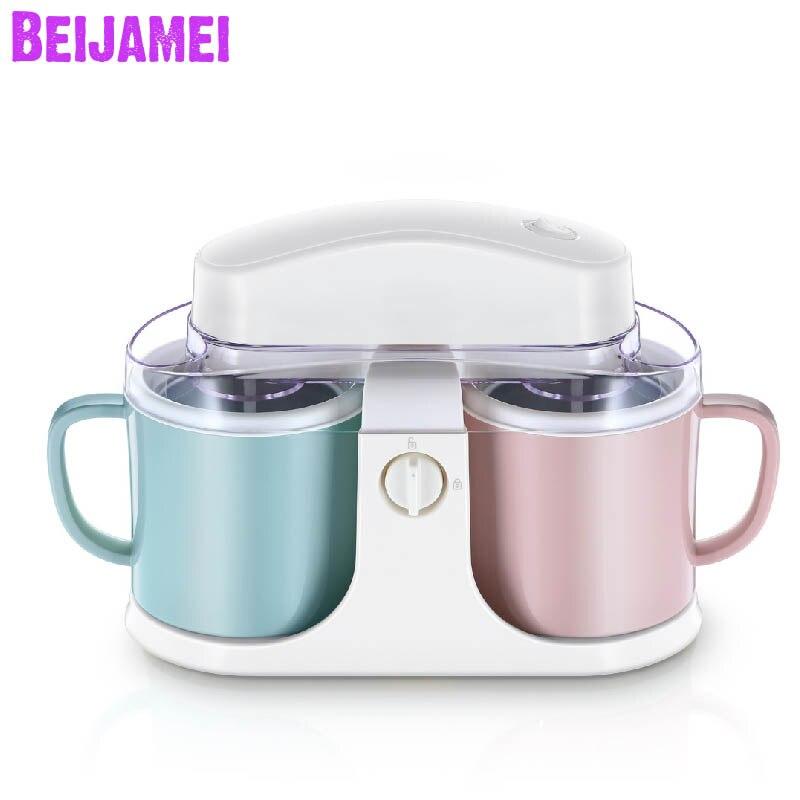 Ev Aletleri'ten Dondurma makinesi'de Beijamei Elektrikli Otomatik Dondurulmuş Meyve Dondurma Makinesi mutfak gereçleri 1L Ev Çocuk Dondurma Yapma title=