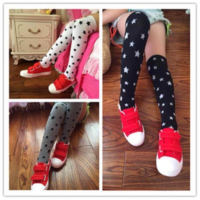Nuevo Lleno de Estrellas Patrón de los Bebés calcetines largos de ...