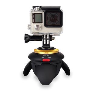 Image 3 - ALLOET חדש מיני Bluetooth מרחוק חשמלי פנורמה ראש 360 סיבוב זמן לשגות חצובה ראש עבור GoPro פעולה מצלמה Selfie מקל
