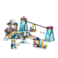 LegoINGlys Friends series 41324 Snow Resort Ski Lift Gift Club Ski Vacation Skiing Figure Building Blocks Bricks Toys For Girls