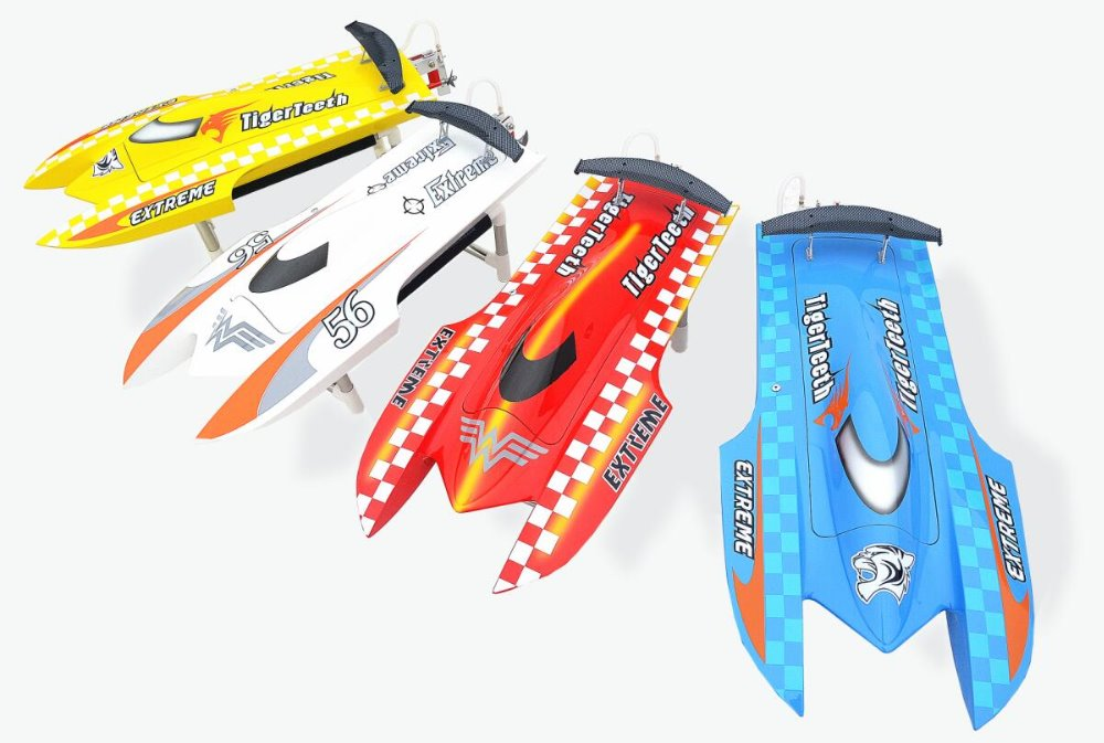 Dt e22 tiger teeth brushless rc boat catamaran with motor for 100 kg servo motor