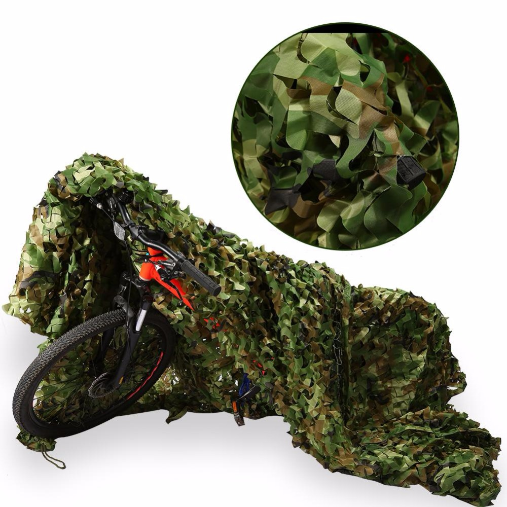 1.5 x 5m Outdoor Hunting Camouflage Camo Net Woodlands Leaves Shade Netting Military Fishing Camping Camo Hiding Cover