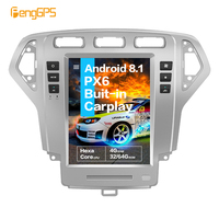 10.4''Vertical screen Tesla Android 8.1 4GB RAM voice control Built in CARPLAY Car Radio For Ford Mondeo MK4 2007 2010 GPS Nav