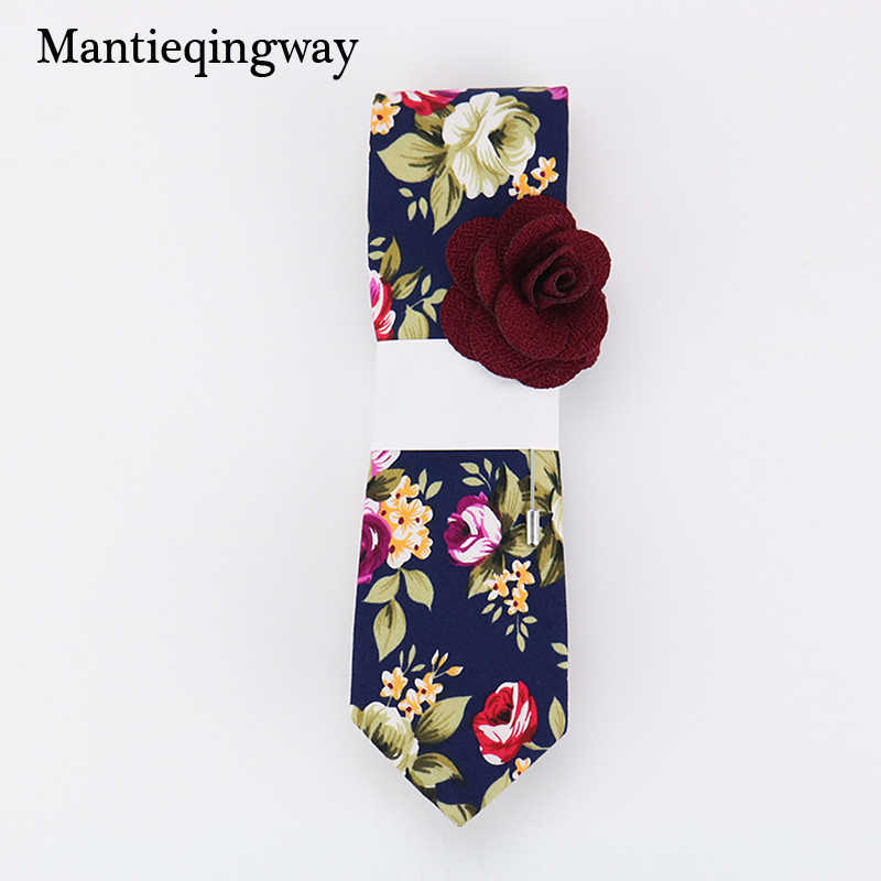 1412cb6acdb5 Detail Feedback Questions about Mantieqingway 6cm Vintage Floral Cotton Ties  for Men Wedding Black Tie Slim Gravatas Corbatas Fashion Casual Printed Tie  ...