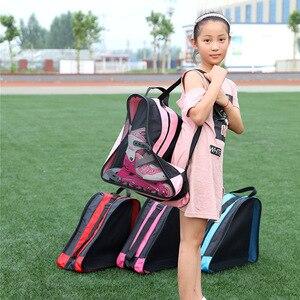 Image 2 - Qualidade mcro patinação sapatos mochilas inline skate sapatos sacos de ombro/bolsas 3 cores disponíveis skate patinação saco