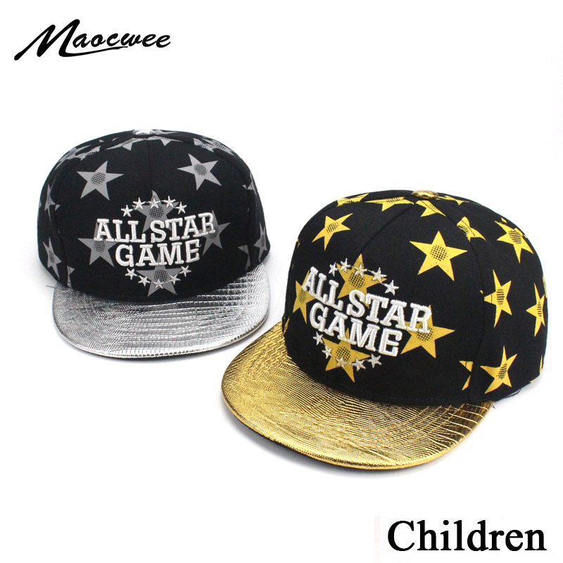 Branded Children Baseball Caps Boy Girl baseball Hat Letter Embroidery ALL STAR GAME Gold Summer Hats for Baby Kid 2-8 years old