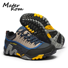 Outdoor Genuine Leather Men Hiking Shoes Waterproof Mountain Boots Woodland Hunting Tactical Shoes Non-slip Lover Trekking Shoes