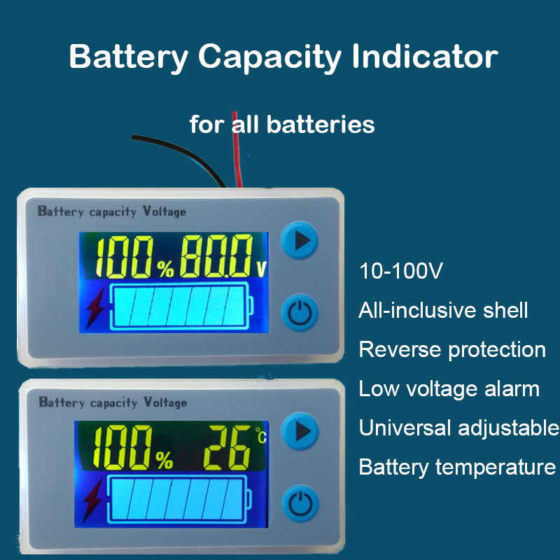 16S 17S 19S 20S Lithium Battery Capacity Indicator Power LCD Display Temperature Sensor Low Voltage Alarm 67V 71V 80V 84V Li-ion luces led de policía