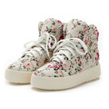 Women Shoes Fashion Canvas Shoes Women Platform Canvas Floral Print Ankle Boots Shoes Wedges Shoes Plus Size 35-39 P5A104
