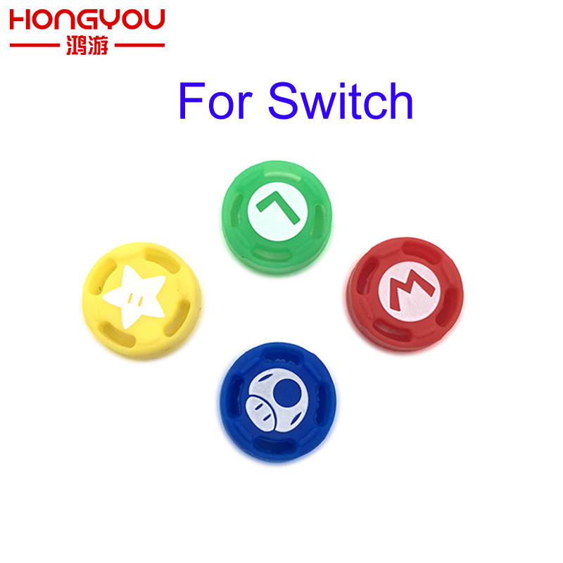 Silicone Thumb Grip Set Joystick Cap Thumbstick Cover for Nintendo Switch Joy-Con Controller ivyueen 2 pcs for joy con silicone joystick thumb stick grip cover case analog caps for nintend switch ns joy con controller