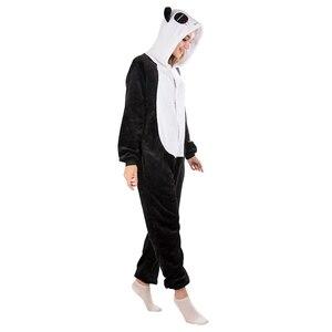 Image 3 - KIGUCOS All in One Winter Warm Pyjama Cartoon Unicorn Onesies One Piece Pijama Hooded Sleepwear Kugurumi Animal Pajama for Women