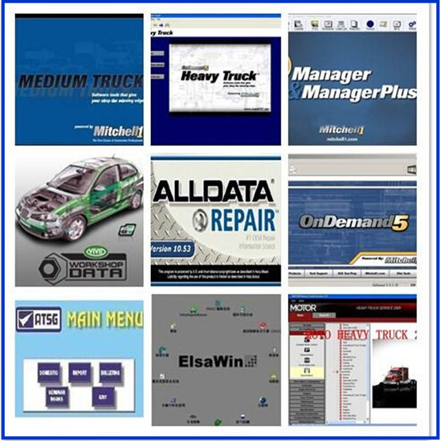 2017 Auto Repair Software Alldata 10.53+Mitchell 2015+ Heavy truck ...
