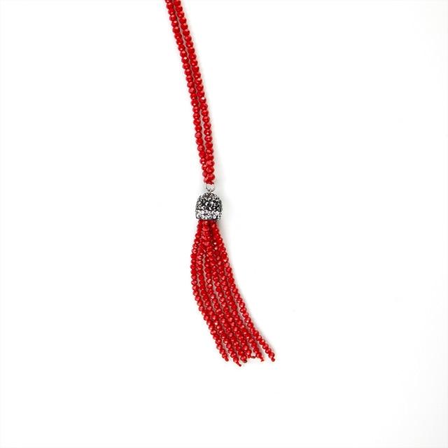 Купить ожерелье с подвеской и кисточкой inkdew колье бусинами ручной