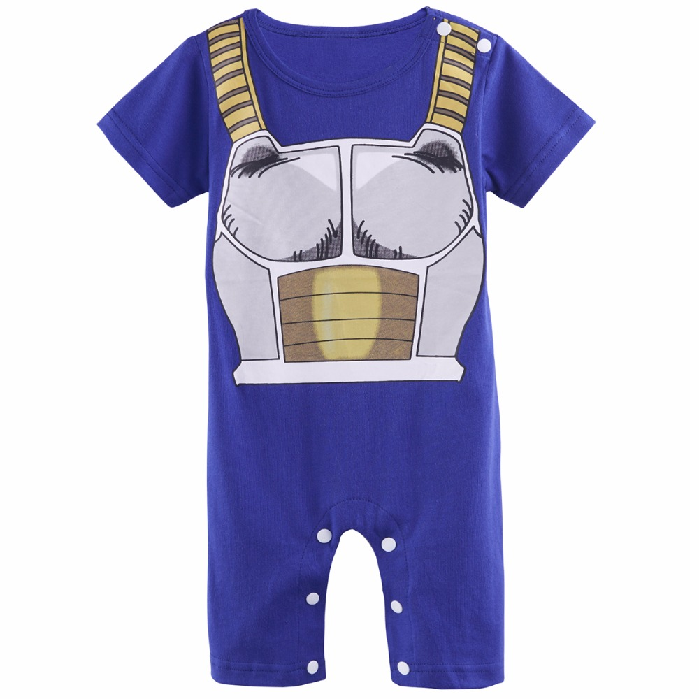 Baby Boys Romper Dragon Ball Z Costume Vegeta Infant Jumpsuit Newborn Playsuits Size 0-24M