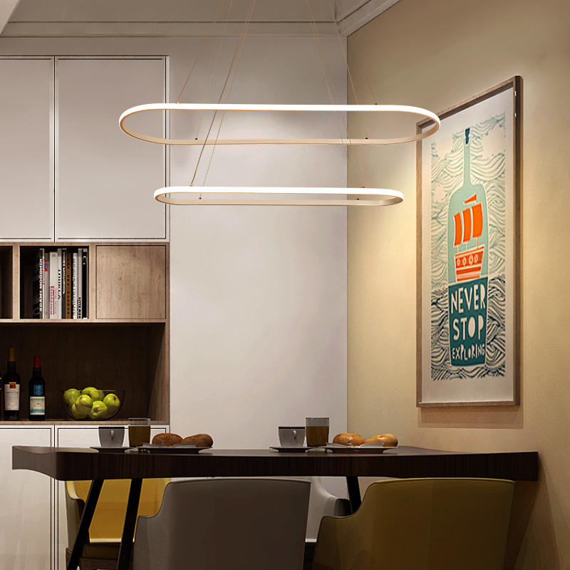 Art personality quality ring big restaurant LED chandelier home atmosphere high-end ring fashion bar table lamp newArt personality quality ring big restaurant LED chandelier home atmosphere high-end ring fashion bar table lamp new