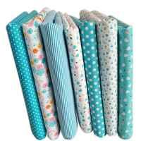 EASY-7Pcs 50 см * 50 см хлопок маленький цветочный обычный печатный хлопок ткань для ткани шитье лоскутное шитье ручной работы текстиль (