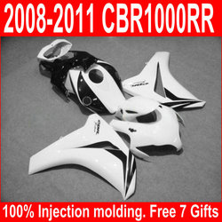 100% Injection Nolding Fairing Kit Fit For Honda CBR1000RR 08 09 10 11 White Black Fairings Set CBR 1000 RR 2008-2011 XM25