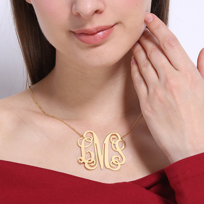 i inch jewelry necklace products love lace monogram pendant