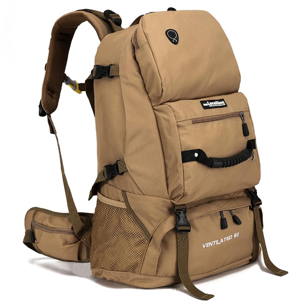 b0727b983c 60L otvoreni planinarenje ruksak muškarci sportske penjanje torba ...
