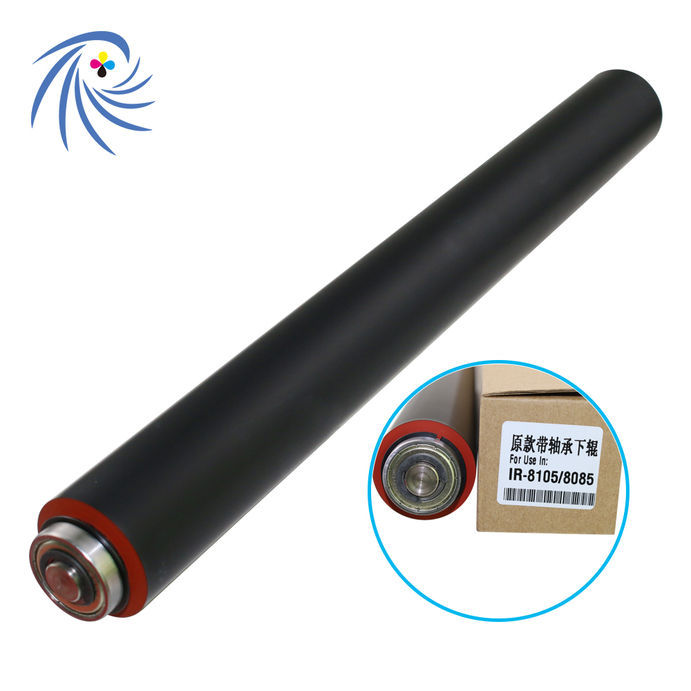 With Bearing!! IR8105 Lower Pressure Sleeved Roller for Canon IR8095 IR8205 IR8285 IR Advance 8085 8095 8105 8025 8205 8295 original fuser rollerfor canon ir 3035 3030 3045 3570 4570 4530 3530 3235 3245 3025 3225 3230 lower sleeved roller on sale