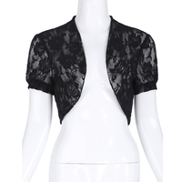 Belle Poque Hot Sale Fashion Women Short Sleeves Jacket Outerwear Lace Short Shrug Open Stitch Solid