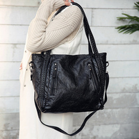 Women Fashion PU Leather Handbag High Quality Casual Messenger Bags Shoulder Female Big Tote Bags Large
