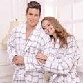Algodón albornoz camisón de las mujeres ropa de dormir de los hombres para la muchacha manta toalla amantes de espesamiento bata suave más el tamaño de otoño invierno