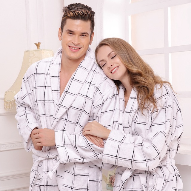 7415ac0ea8 Cotton bathrobe women sleepwear men nightgown for girl blanket towel  thickening lovers long soft robe autumn