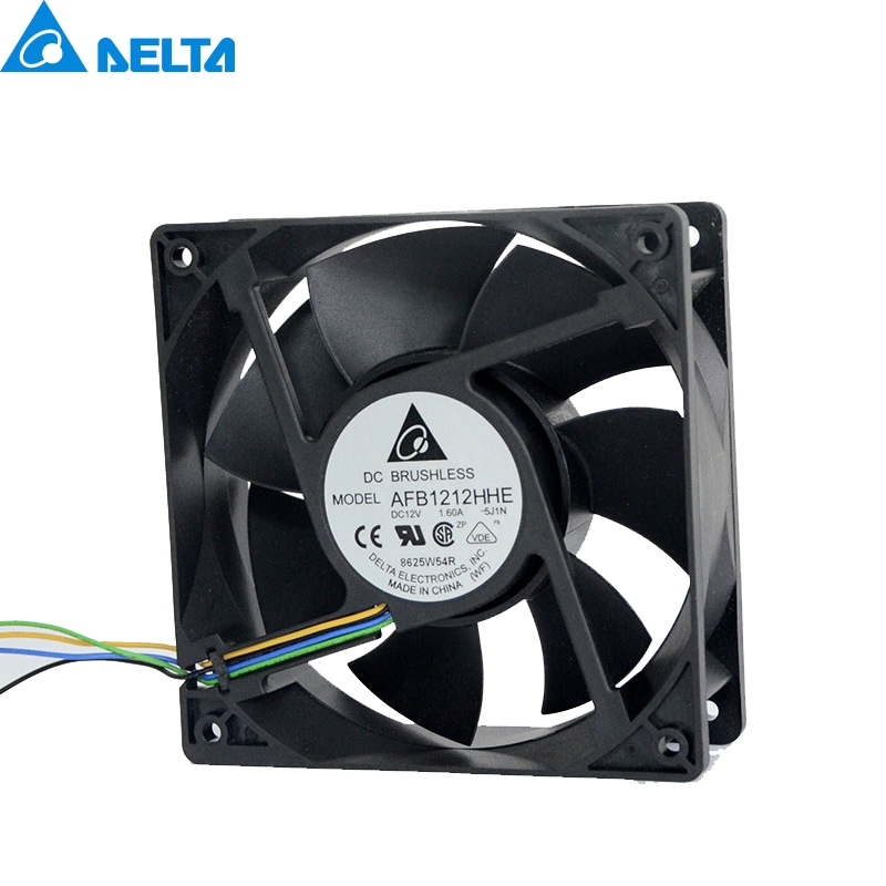 Free shuipping Delta AFB1212HHE 12038 4-wire PWM intelligent temperature control 12V 0.7A120x120x38MM delta afb1212hhe 12038 12cm 120 120 38mm 4 line pwm intelligent temperature control 12v 0 7a