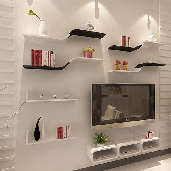 Us 39 52 5 Off 1pcs Wall Bookshelf Mounted Shelf Sitting Room Tv Floating Shelves Decorative L19 6 Inch X W5 9 L50cm W15cm In