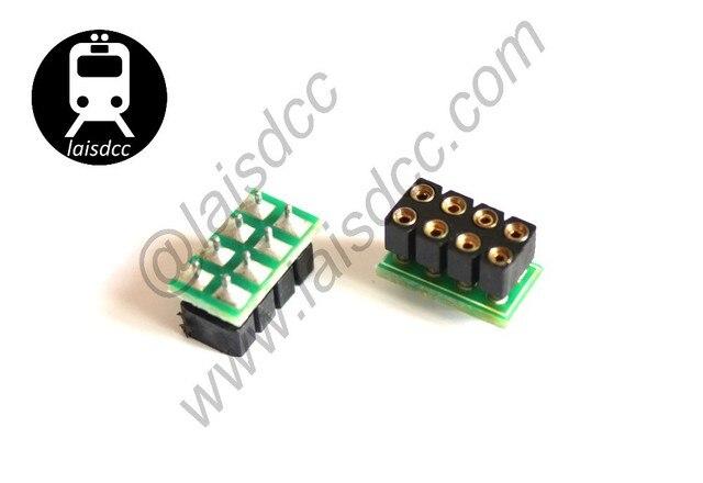 10PCS DCC DECODER/DCC Mobile Decoder 8 PIN NEM 652 SOCKET Only 860002/LaisDcc Brand