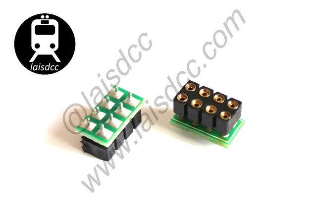 DCC DECODER/DCC Mobile Decoder 8 PIN NEM 652 SOCKET Only/LaisDcc Brand