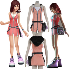 New Beautiful Kingdom Hearts Kairi Cosplay Costume Pink Dress Custom Size Suit Cartoon Character Costumes