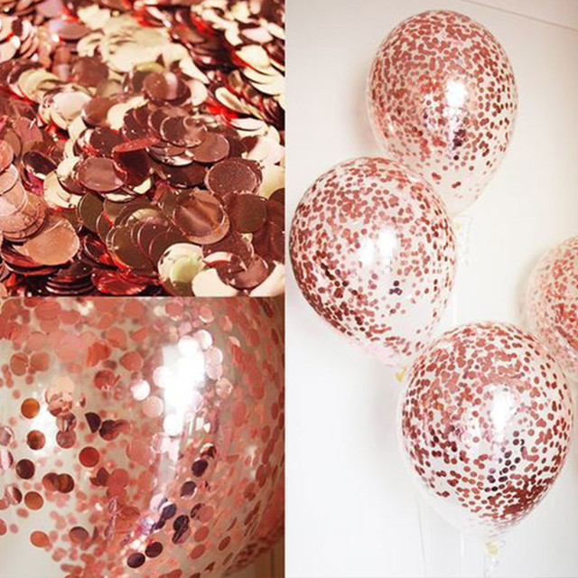 18inch rose gold heart foil balloon 10inch white pink latex balloon confetti balloon wedding decoration birthday party baby toys 3
