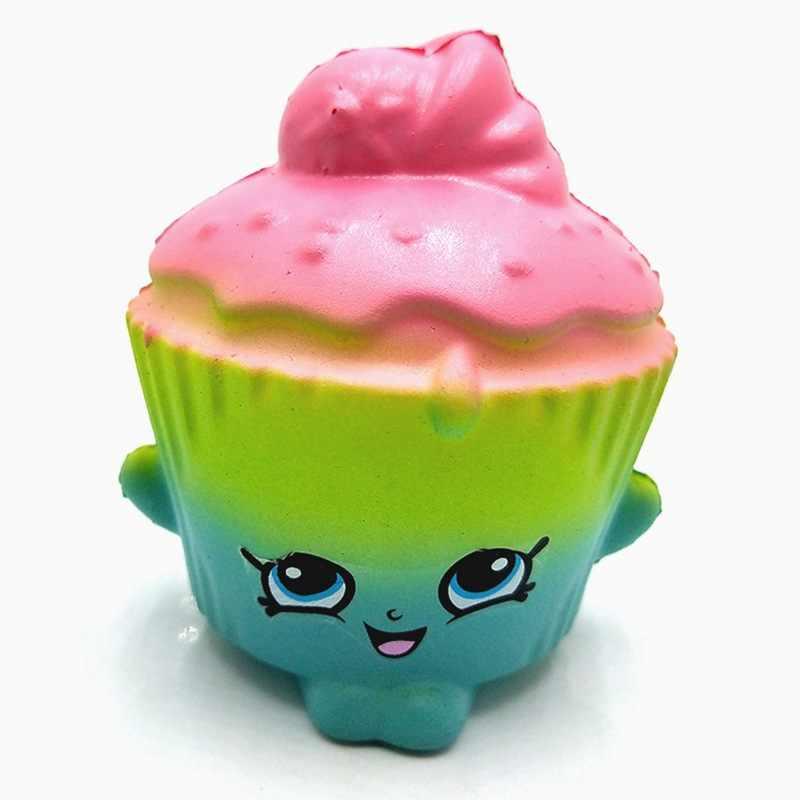 Lembut Makanan Licin Lambat Rebound Kartun Mini PU Busa Kompresi Mainan Warna Kue Licin Seri Dekompresi Mainan Hadiah-NNL400