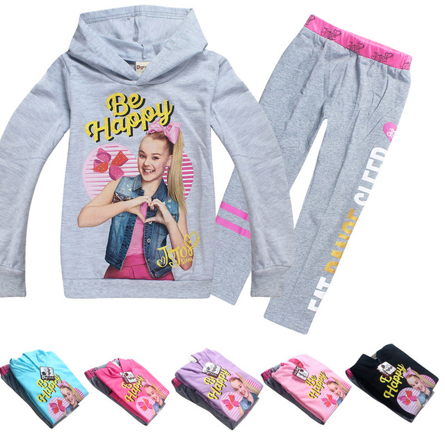38816d30350e 2018 new JOJO SIWA Girl Clothing Sets Spring Winter Children ...