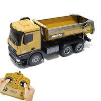 HUINA игрушка Rc барабана грузовик бункер грузовик модель с 10 Функция 10 канал 2,4 ГГц дистанционного управления автомобилем подарок для детей