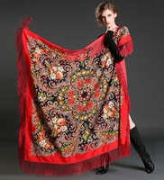 High Quality Spring Russian Family Name Wind Travel Long Tassel Lady Scarf Shawl Scarves Wholesale 15
