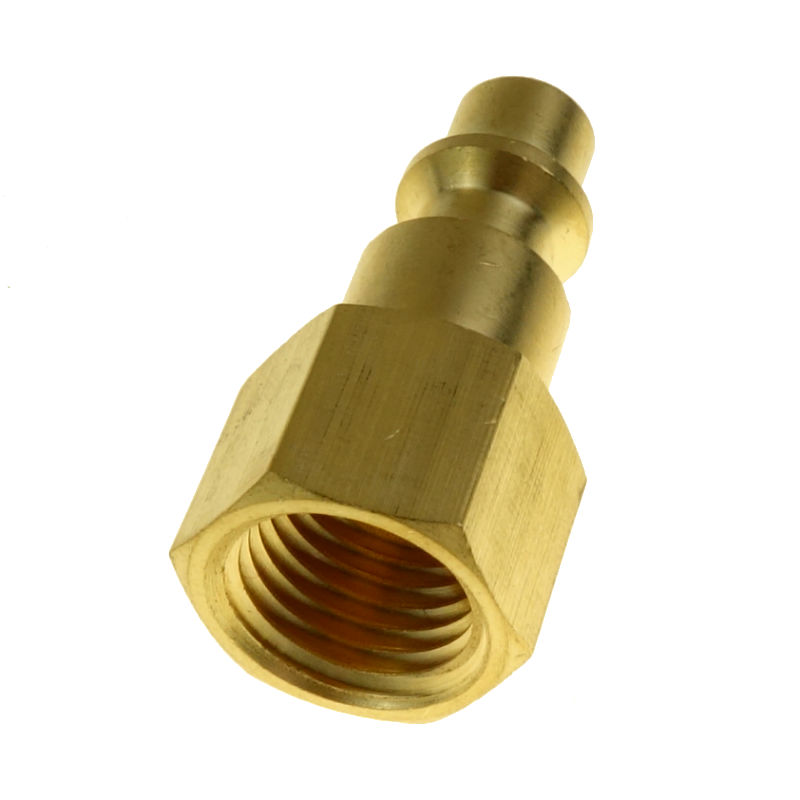 10pcs Brass Quick Coupler Air Hose Fitting Plug 1/4 NPT Female Air Compressor Connector10pcs Brass Quick Coupler Air Hose Fitting Plug 1/4 NPT Female Air Compressor Connector