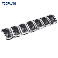 Mesh Grille For Jeep Cherokee 2013 2016 Grid Guard Inserts Molding Trim Cover High Quality ABS