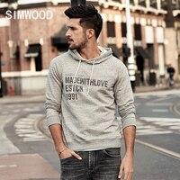 SIMWOOD New 2017 Autumn Winter Men Sweatshirt Letter Print Hot Sale High Quality Men Hoodies Plus