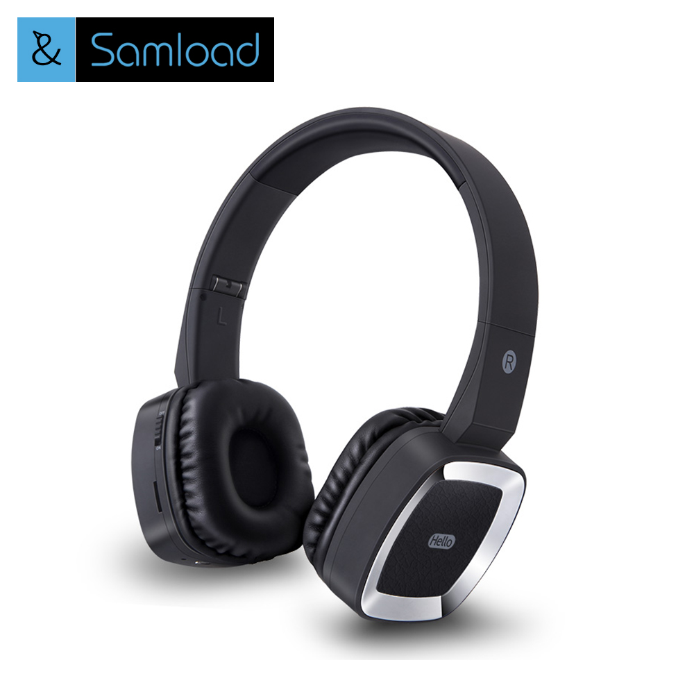 Samload Wireless Bluetooth headphones& wireless headset with Microphone for mobile phone music earphone high quality wireless headphones bluetooth headset with microphone nfc hifi music wireless earphones for phone hands free