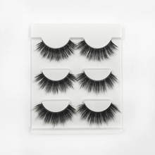 3D Handmand High Grade Chemical Fiber False eyelashes natural long Multilayer Fake eyelash thick Black eye lashes 1set= 3 pairs