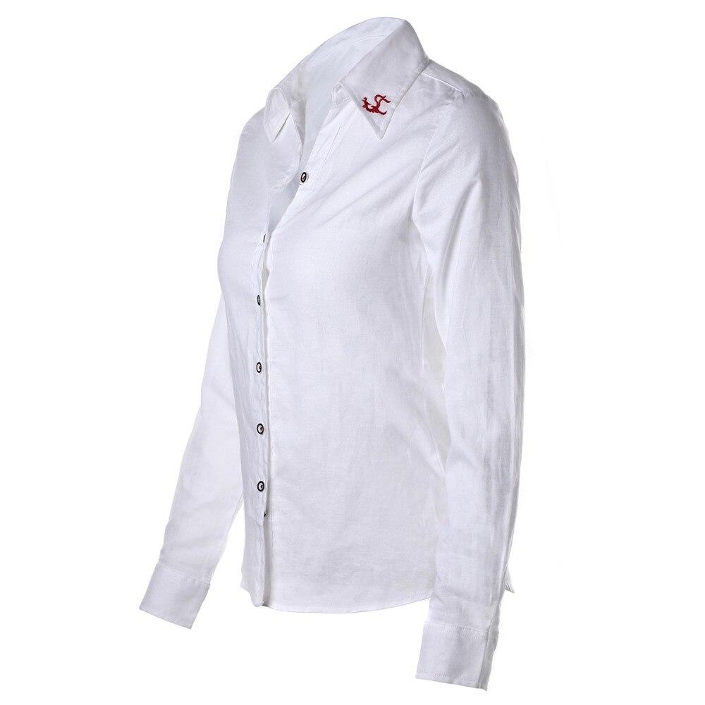 Plus Size Frauen Blusen Phenix Langarm Shirt Frauen Solide Baumwolle - Damenbekleidung - Foto 2