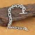 Handmade 925 Silver OM Mantra Bracelet Vintage Pure Silver Chain Bracelet Sterling Silver Man Bracelet