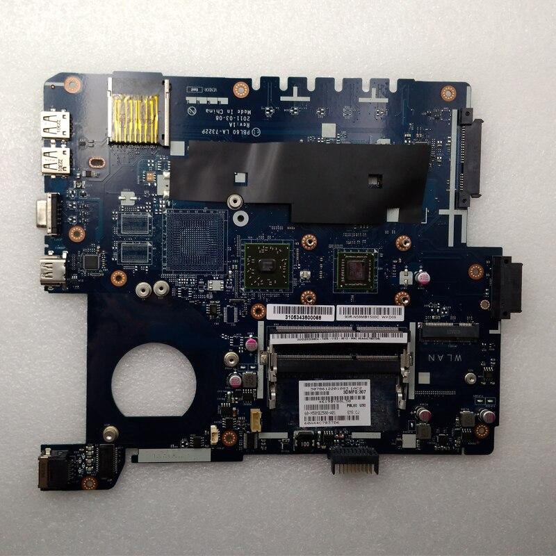 Utilisé, ordinateur portable Asus carte mère PBL60 LA-7322P ajustement pour K53U X53U X53B K53B X53BY X53BR K53BY DDR3 avec PROCESSEUR AMD