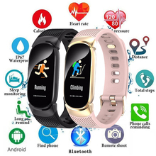 New IP67 Waterproof Smart Watch Women Heart Rate Monitor Men Fitness Smart Bracelet Tracker Sport Smartwatch For Android IOS+Box цена 2017