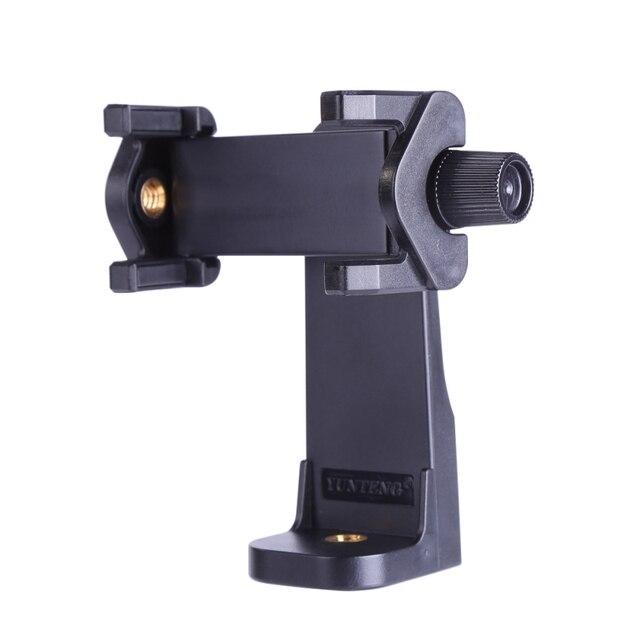 Tripé Adaptador de Telefone Celular Universal Mount Holder Clip para iPhone Samsung Telefones Smartphone Selfie Monopé Braçadeira Ajustável