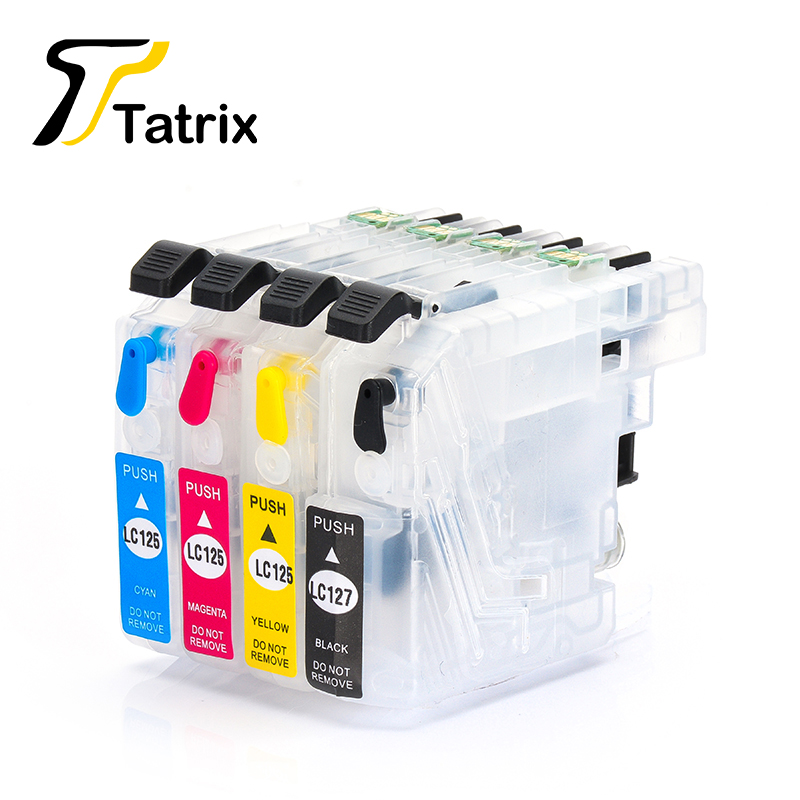 Tatrix LC127 LC125 Refillable Ink Cartridge For Brother MFC-J4410DW J4510DW J4610DW J4710DW J2510 J4110DW J4210N J4510N