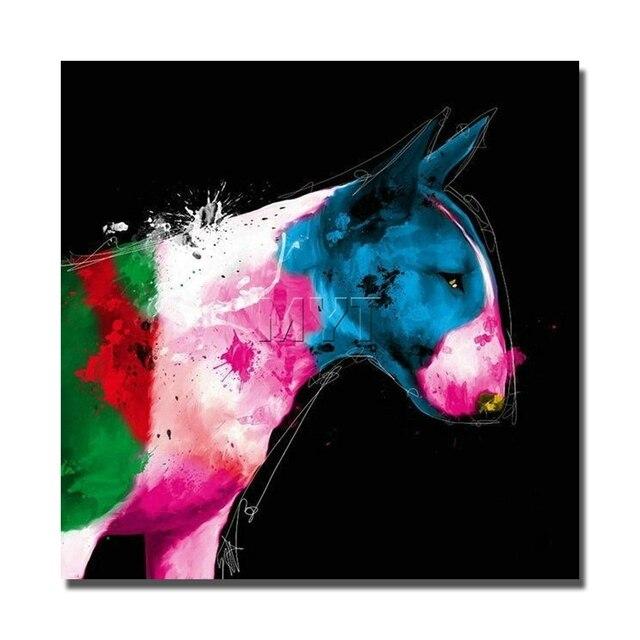 Rosa color de la vaca animales pintura al óleo cuadros de la pared a ...